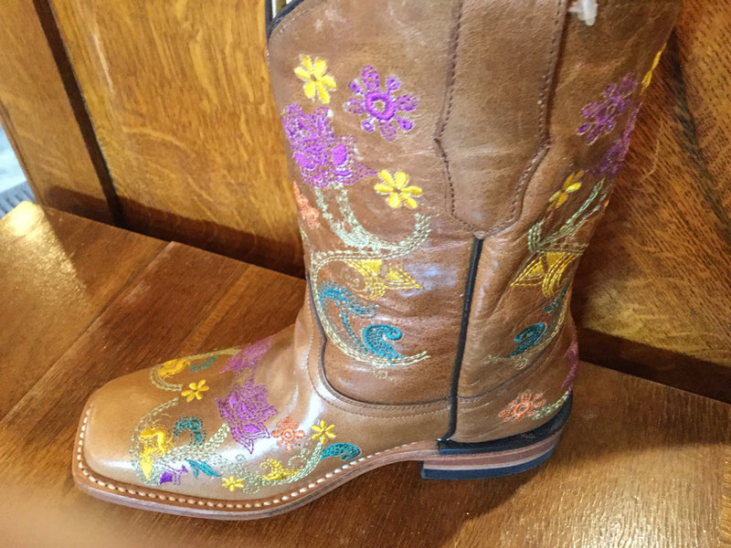 Corral G1155 brown Floral Kids Boots