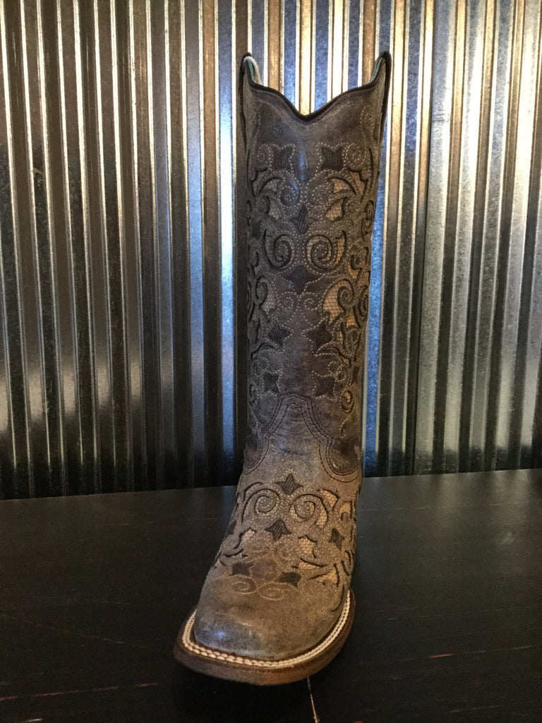 Corral A3227 Brown Jute Inlay Ladies Boots