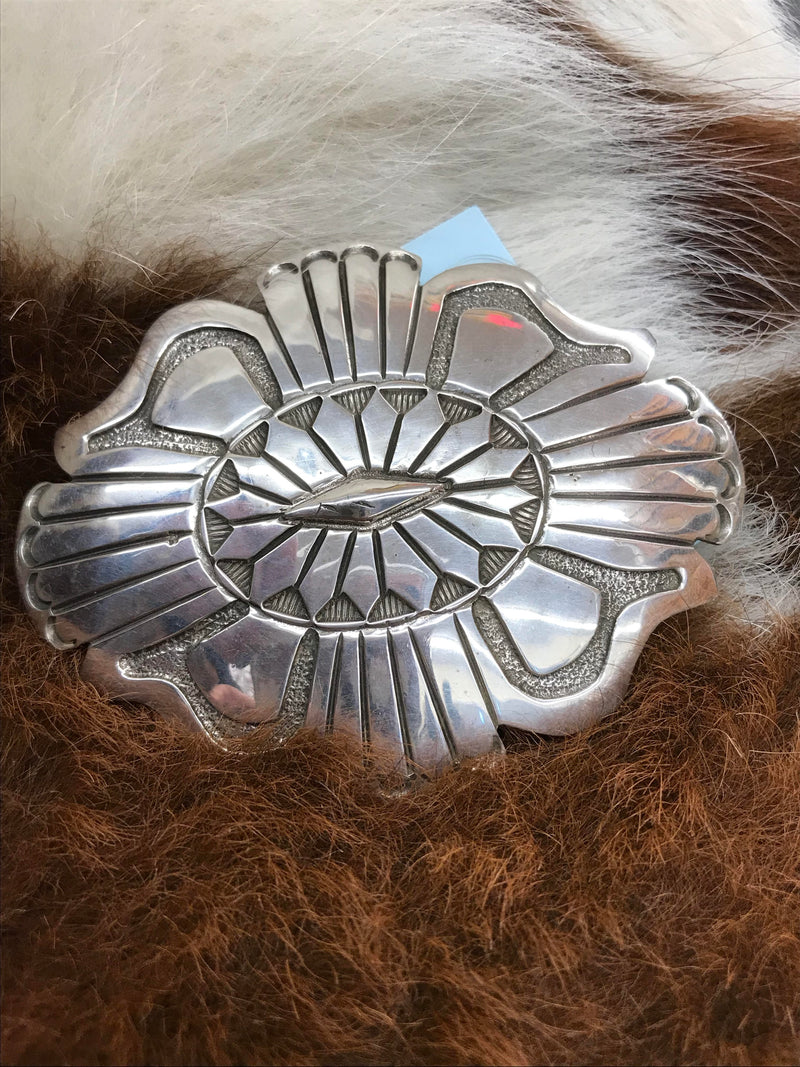 AZ018 Sterling Silver Belt Buckle