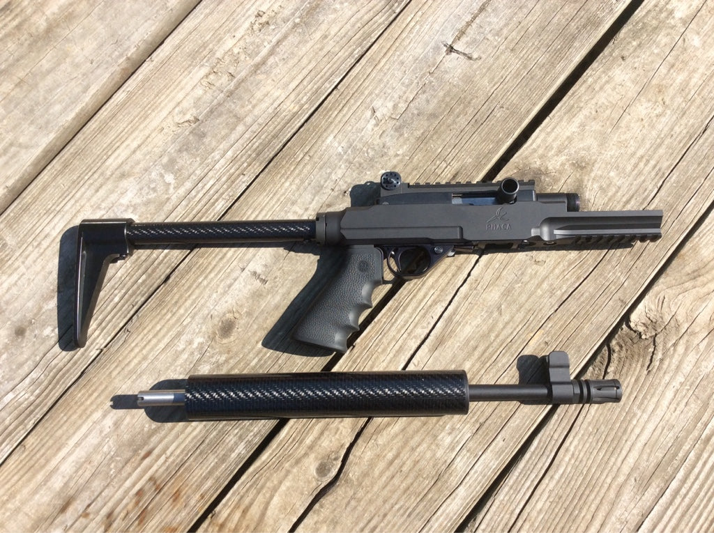 PMACA 10/22 AGP takedown chassis with free float and end cap