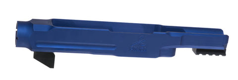 Blue PMACA 10/22 chassis / stock adapter