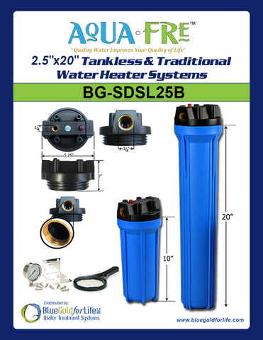 "2.5""x20"" Tankless & Traditional Water Heater Systems - Blue Gold For Life Inc"