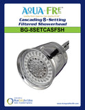 Cascading 8-setting Filtered Showerhead