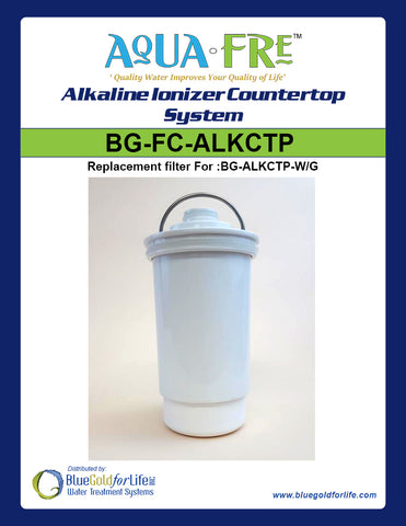 Alkaline Countertop Replacement Filter - Blue Gold For Life Inc