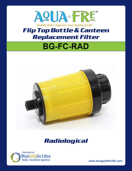 Flip Top Bottle & Canteen Replacement Filter - Blue Gold For Life Inc