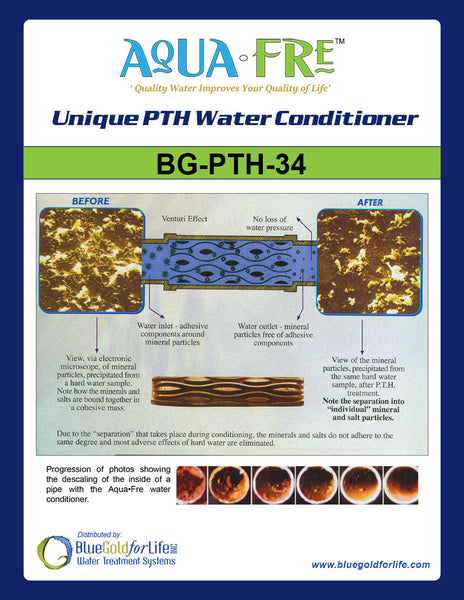 PTH Water Conditioner System - Blue Gold For Life Inc