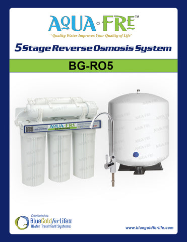 5-Stage Reverse Osmosis System - Blue Gold For Life Inc