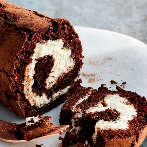 Chocolate Roulade with Chocolate Ganache