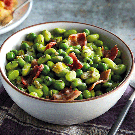 Peas and Beans with Bacon