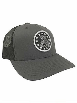 Iconic - Patch Charcoal Gray Mesh Back Hat