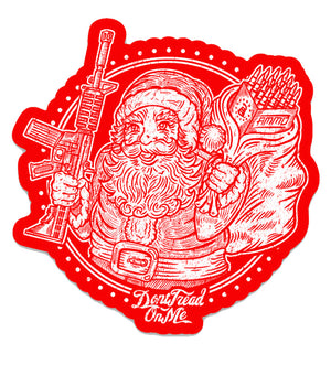 "Santa's Got a Brand New Bag - 3"" x 3"" Holiday Die-Cut Sticker"