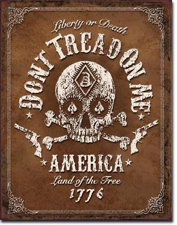 "Don't Tread On Me® - Black Jack - 12.5"" x 16"" - Tin Sign"