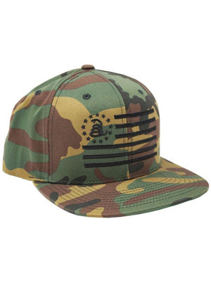 Combat Flag - CAMO - Snapback Hat - Don't Tread On Me