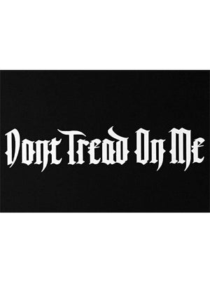"Dead or Alive - 11"" x 3"" Vinyl Decal Sticker - White - Don't Tread On Me"