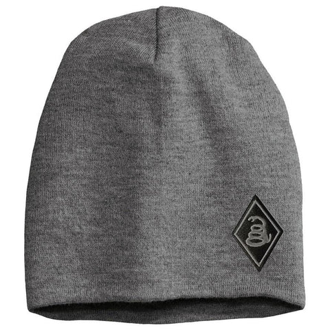 Snake Diamond - Gray Beanie