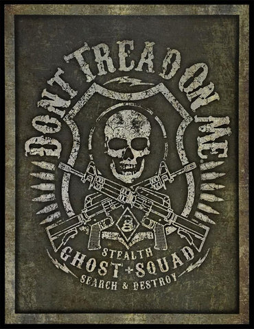 "Don't Tread On Me® - Ghost Squad - 12.5"" x 16"" - Tin Sign"
