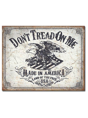 "Land Of The Free - 16"" x 12.5"" - Tin Sign"