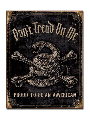 "Proud American - 12.5"" x 16"" - Tin Sign"