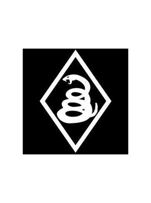 Snake Diamond - 4 x 6 Vinyl Decal Sticker