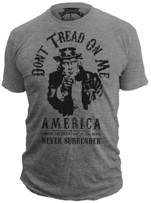 Uncle Sam - 50/50 T-Shirt - Don't Tread On Me