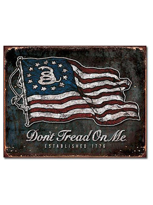 "Vintage Flag - 16"" x 12.5"" - Tin Sign"