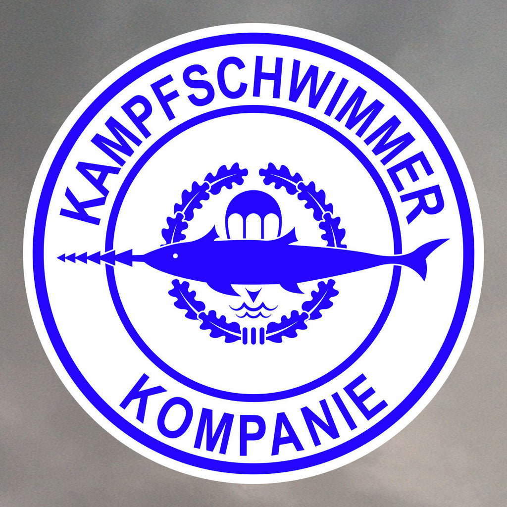 Kampfschwimmer German Combat Swimmer Stickers 0941
