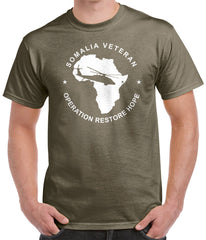Somalia Veteran T-Shirt - Operation Restore Hope