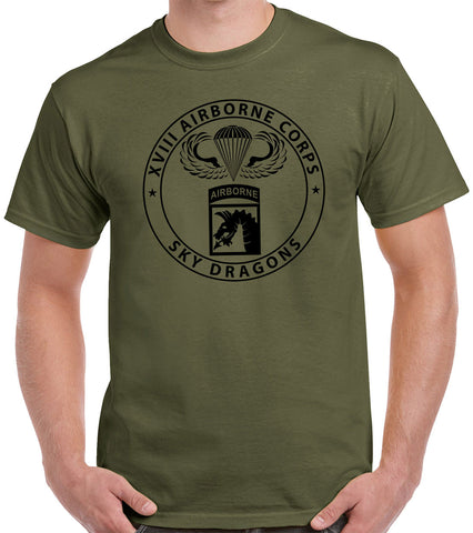 XVIII Airborne Jump Wings T-Shirt 1164
