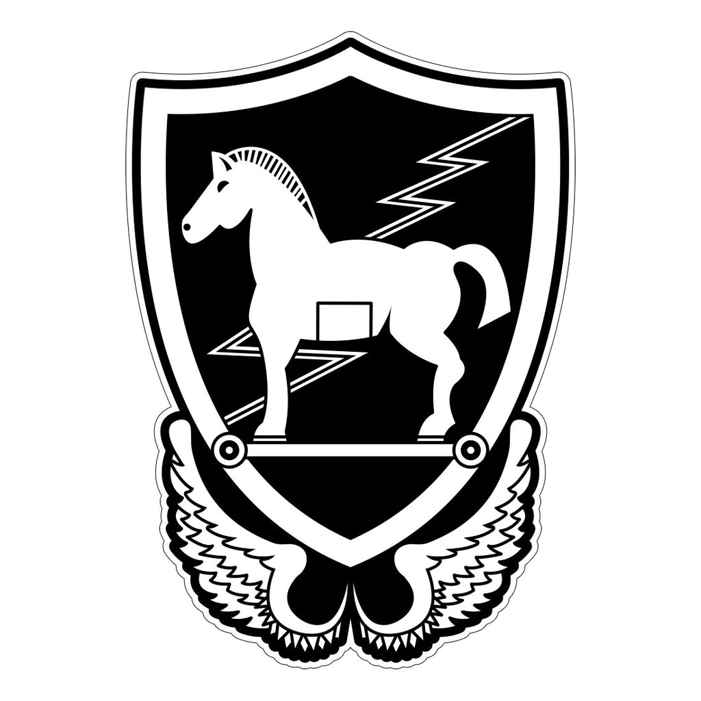 Special Forces Stickers - 10th Special Forces Group - Trojan Horse 1350