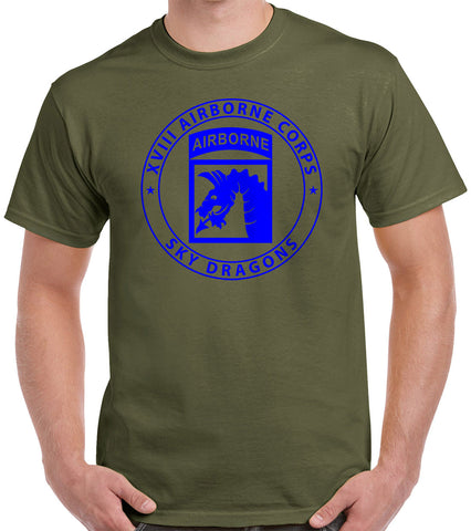 XVIII Airborne Dragon Patch T-Shirt 5031