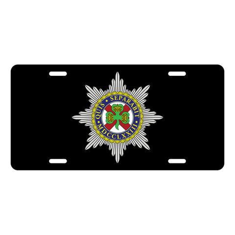Irish Guards License Plate LP0007