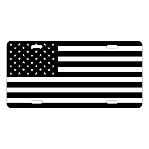 Black Flag License Plate LP0008