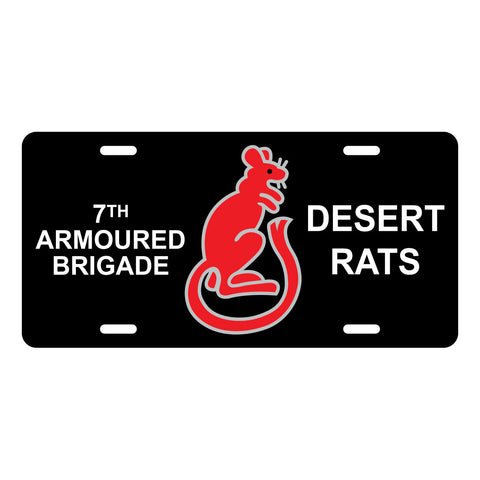 Desert Rats License Plate LP0012