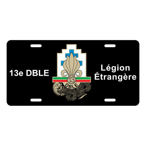 13 DBLE Foreign Legion License Plate LP0013