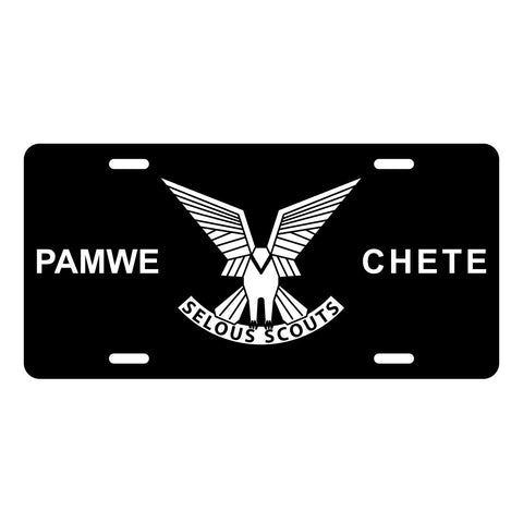 Rhodesian Selous Scouts License Plate LP0014