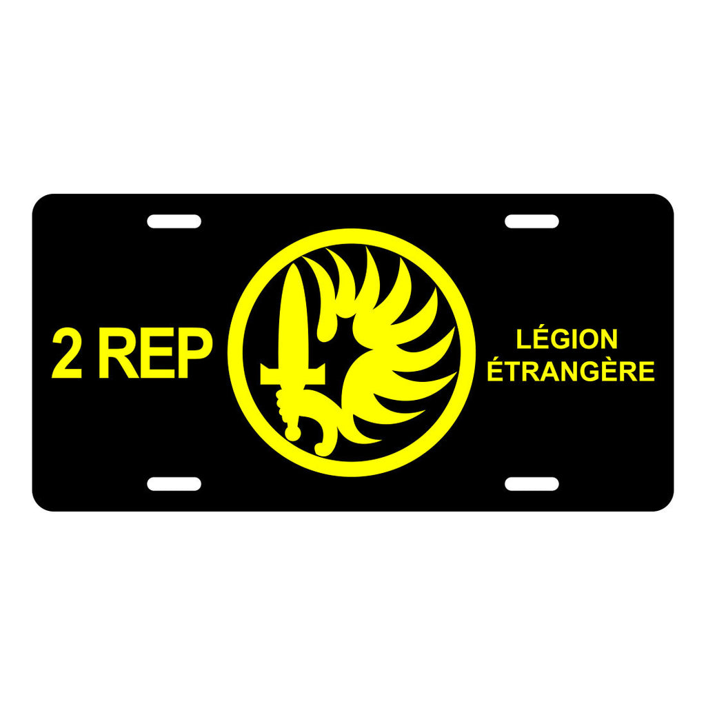 2 REP Foreign Legion License Plate LP0015