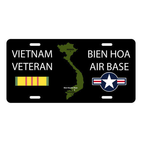 Bien Hoa Air Base Vietnam Veteran License Plate