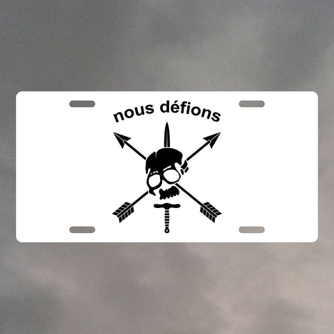 Nous Defions Special Forces License Plate LP1128