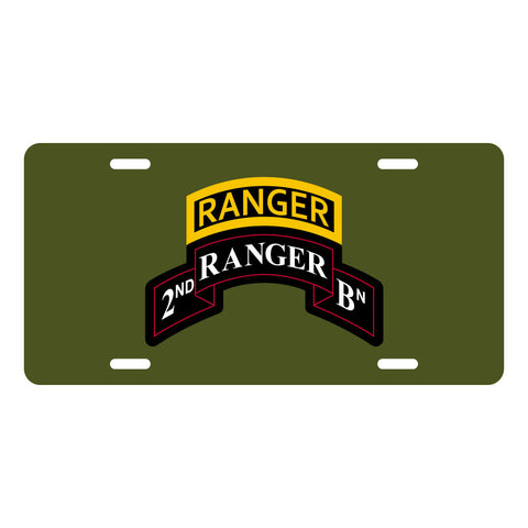Ranger License Plate - 2nd Ranger Bn