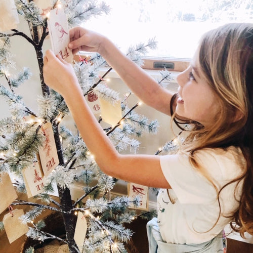 DIY Advent Tree + Gratitude Activity