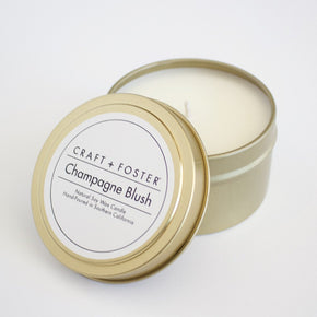 Craft and Foster Champagne Blush Soy Wax Candle