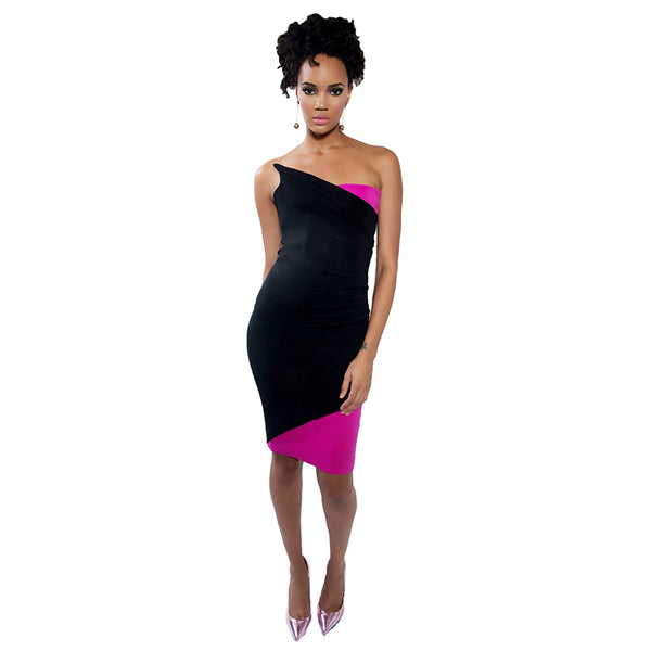 """Apollonia"" Strapless Ruched Dress"