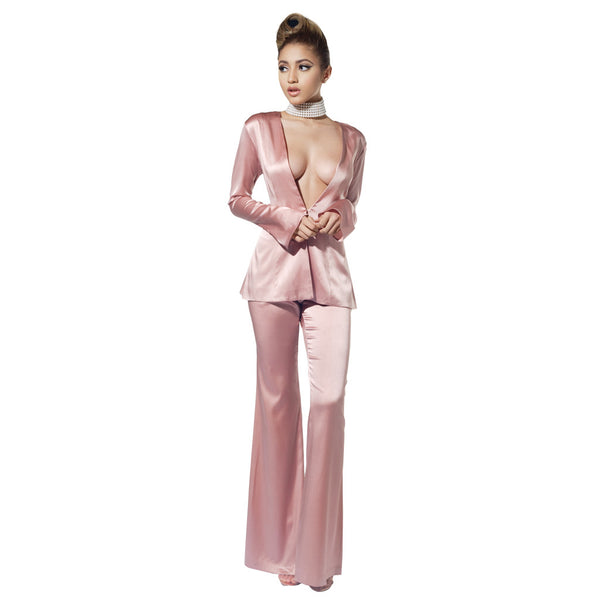 """IRIS"" SILK SUIT PANTS"