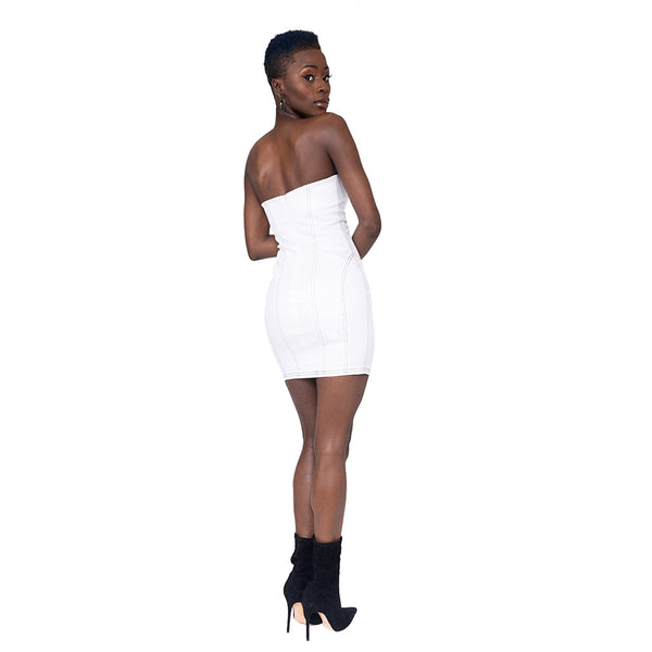 """Paige"" Contrast Stitch Mini Dress"