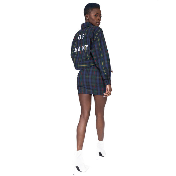 """Preppy""Plaid Cropped Jacket"