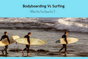 Infographic on 'Body boarding Vs Surfing'