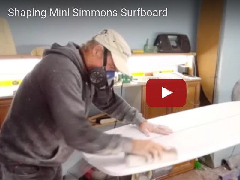 Shaping Mini Simmons Surfboard