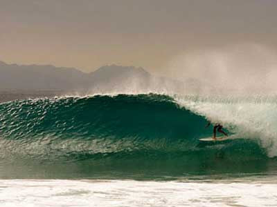 Surfing Northern Baja