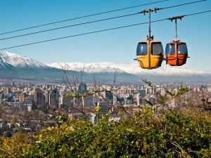 gondola mountains santiago