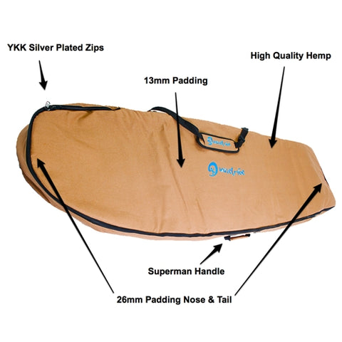 Wave Tribe Mini Simmons Surfboard Travel bag